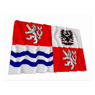 Central Bohemia Waving Flag Postcard