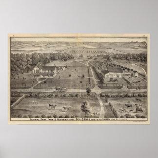 Central Park farm & residence of Geo S Park Poster