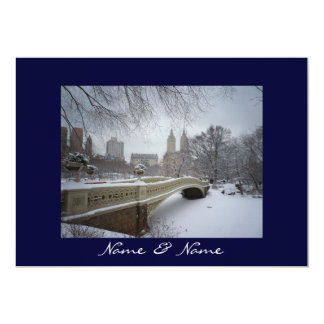 Central Park Winter Wedding Card