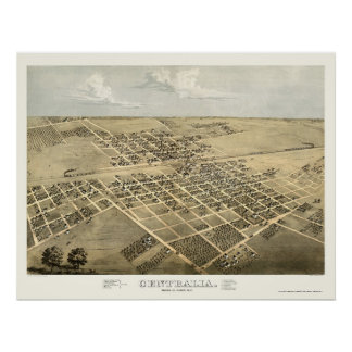 Centralia, IL Panoramic Map - 1867 Poster