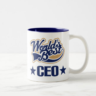 CEO Gift (Worlds Best) Two-Tone Coffee Mug