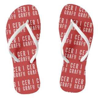 Cer i Grafu Welsh Wales Slang Dialect Flipflops