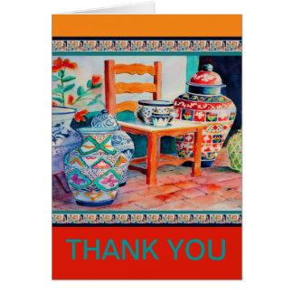 Ceramic Pots custom thank you note card