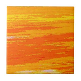 Ceramic tile - streaky oranges and whites