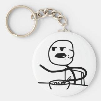 Cereal Meme Guy Key Ring