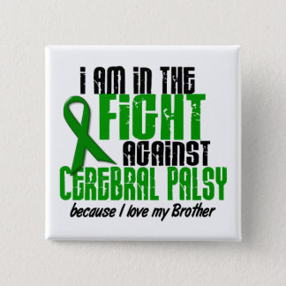 Cerebral Palsy In The Fight For My Brother 1 15 Cm Square Badge