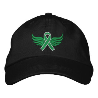 Cerebral Palsy Ribbon Wings Embroidered Hat