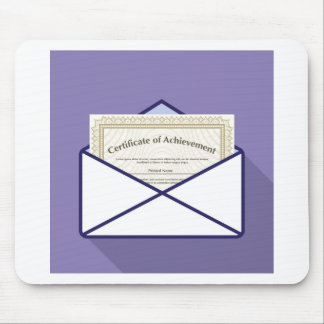 Certificate in Envelope Vector Mouse Pad