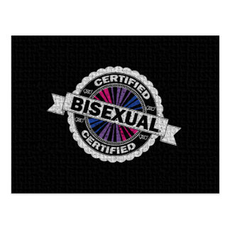 Certified Bisexual Stamp Postcard