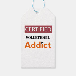 Certified Volleyball Addict Gift Tags