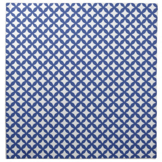 Cerulean Blue And White Mesh Pattern. Graphic Art Cloth Napkins