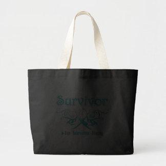 Cervical Cancer Survivor Tribal Ribbon Bags
