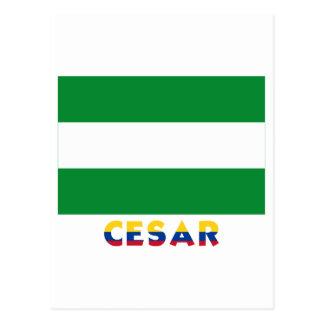Cesar Flag with Name Postcard