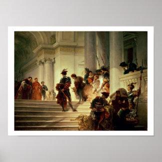 Cesare Borgia leaving the Vatican Poster