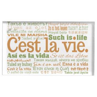 C'est La Vie table card holder