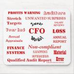 CFO Swear Words - Rude CFO Mousepad