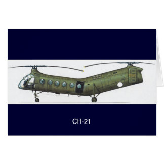 CH-21 HELICOPTER CARD