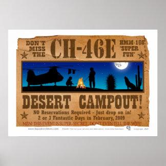 CH-46  Desert Campout Poster