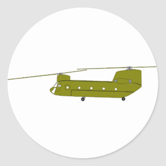 CH-47D cargo helicopter Classic Round Sticker