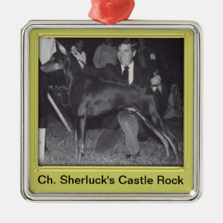 Ch. Sherluck's Castle Rock Christmas Ornament