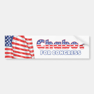Chabot for Congress Patriotic American Flag Bumper Sticker