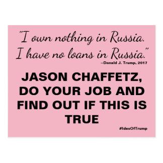 Chaffetz Do Your Job Trump Russia Resistance Postcard