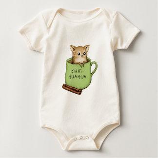 Chai-huahua Chihuahua Chai Tea Design Baby Bodysuit