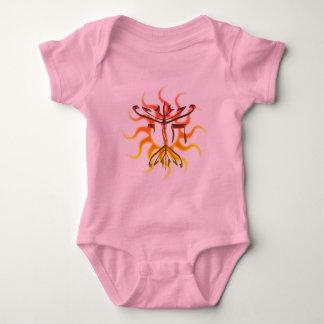Chai Menorah Sun Baby Bodysuit