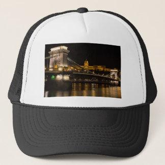 Chain Bridge with Buda Castle Hungary Budapest Trucker Hat