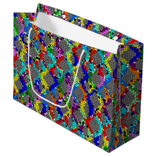 Chain Linked Stained Glass Large Gift Bag