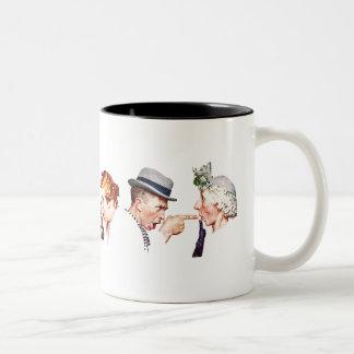 Chain of Gossip 3 Two-Tone Coffee Mug