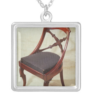 Chair, Louis-Philippe period Silver Plated Necklace