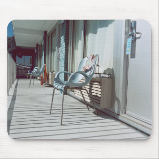 Chairs Outside Beach Hotel Rooms Mouse Pad