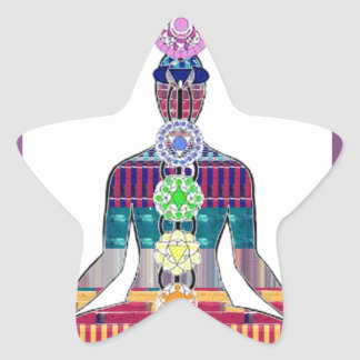 CHAKRA diagram Yoga Meditation Peace NVN630 FUN Stickers