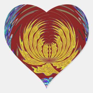 CHAKRA Giveaway Return+Gifts Heart,Green,Peace $$$ Heart Sticker