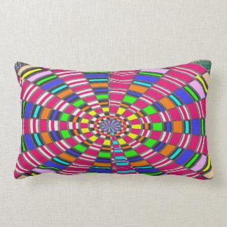 Chakra Mandala Circle Round Circular Colorful ART Lumbar Cushion