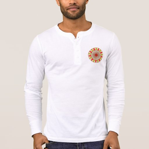 CHAKRA : Men's Canvas Henley Long Sleeve Shirt