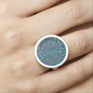 Chakra Sparkle Circles Energy ART Graphic Ring