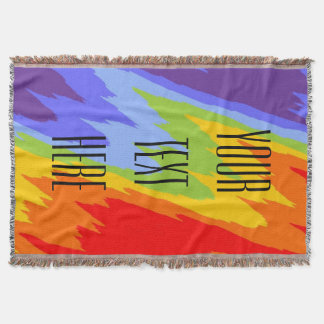 Chakras Colors VII + your text Throw Blanket