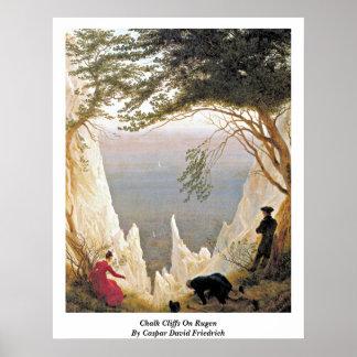 Chalk Cliffs On Rugen By Caspar David Friedrich Poster