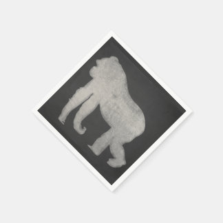 Chalk Gorilla Paper Serviettes