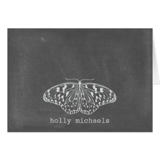 Chalk Inspired Butterfly Personalized Notecards Cards
