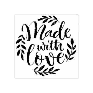 Chalk Lettering Made With Love Rubber Stamp