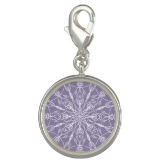 Chalk White Mandala on Lavender