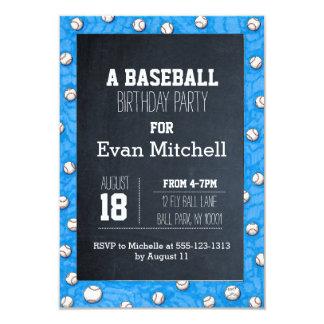 Chalkboard Baseball Party Invitation