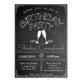 Chalkboard Birthday Celebration Invitation