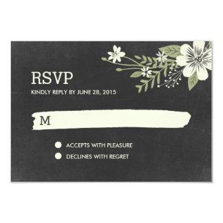 Chalkboard Blooms RSVP /Wedding Response Cards