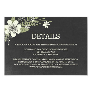 Chalkboard Blooms Wedding Enclosure Cards