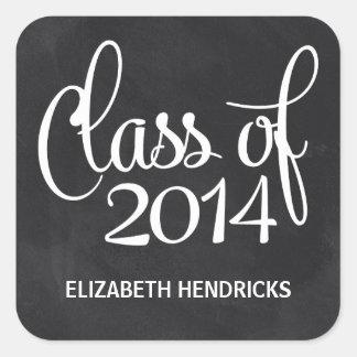 Chalkboard Class of 2014 Graduation Square Sticker