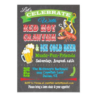 Chalkboard Crawfish Boil Party Invitations